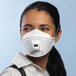3M 9211 N95 Mask With Respirator Valve - 10/Box