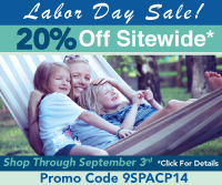 Celebrate Labor Day! With Our Fantastic 20% Off Sitewide Sale!! No Minimum Order, Shop Through September 3rd With Promo Code 9SPACP14- *Click For Details