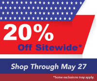 Celebrate Memorial Day! With Our Fantastic 20% Off Sitewide Sale!! No Minimum Order, Shop Through May 27th With Promo Code MEMORIAL15- *Click For Details