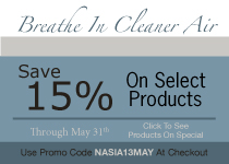 Breathe In Cleaner Air & Save 15% On Select Products Through May 31st with Promo Code ACPIA13MAY - Click To See All Products On Special
