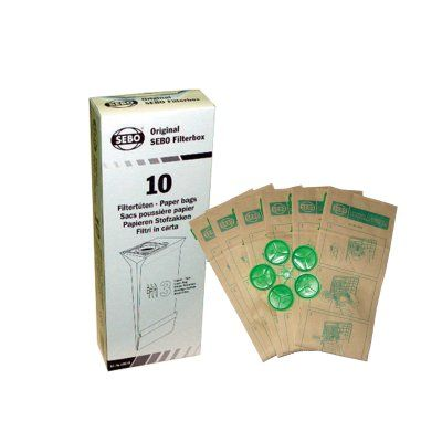SEBO Filter Bag Box for X, G, C, 370 Series (#5093AM)