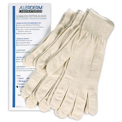 Allerderm Seamless Cotton Gloves 3-Pack